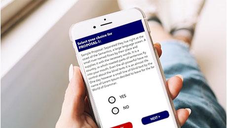 Interactive voting app.