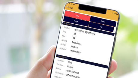 Flooring mobile app allows for paperless office.